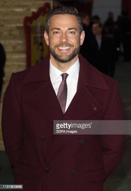 Zachary Levi at the DC 'Shazam' Fun Fair Launch photocall at Bernie Spain Gardens South Bank in London