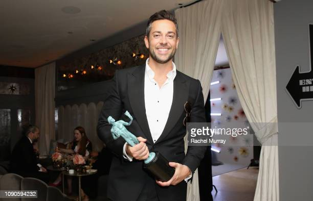 Zachary Levi attends Netflix 2019 SAG Awards after party at Sunset Tower Hotel on January 27 2019 in West Hollywood California