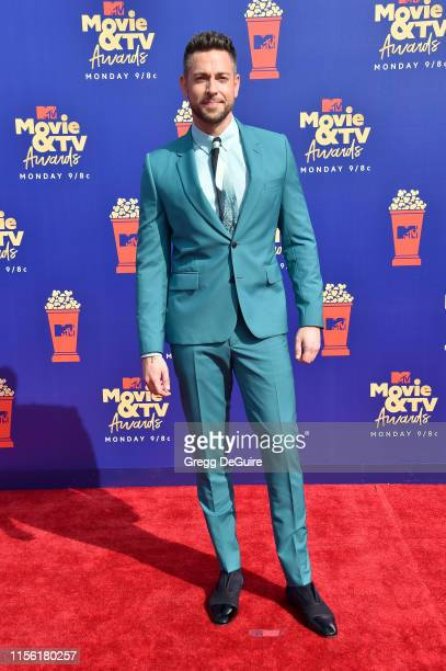 Zachary Levi attends the 2019 MTV Movie and TV Awards at Barker Hangar on June 15 2019 in Santa Monica California