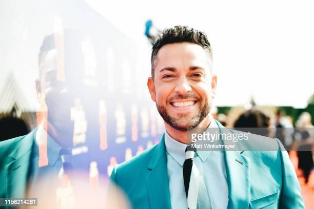 Zachary Levi attends the 2019 MTV Movie and TV Awards at Barker Hangar on June 15 2019 in Santa Monica California