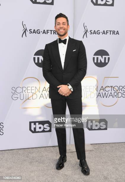 Zachary Levi attends the 25th Annual Screen Actors Guild Awards at The Shrine Auditorium on January 27 2019 in Los Angeles California