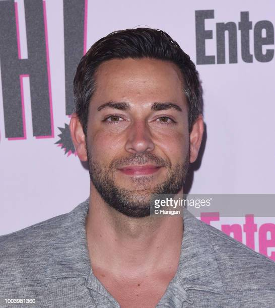 Zachary Levi attends the annual Entertainment Weekly ComicCon Celebration at Float at Hard Rock Hotel San Diego on July 21 2018 in San Diego...
