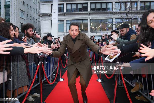 Zachary Levi attends the unveiling of the Shazam World Exclusive Fan Experience on March 14 2019 in Toronto Canada