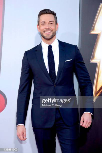 Zachary Levi attends the Warner Bros Pictures And New Line Cinema's World Premiere Of SHAZAM at TCL Chinese Theatre on March 28 2019 in Hollywood...