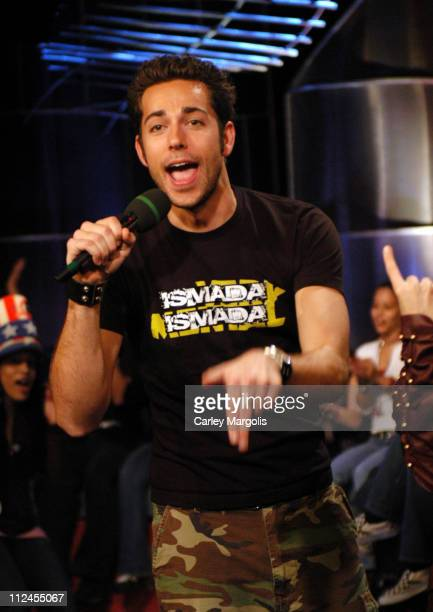 Zachary Levi during Green Day and Zachary Levi Visit Fuse's 'Daily Download' November 1 2004 at Fuse Studios in New York City New York United States