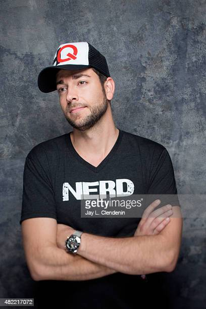Zachary Levi of 'Heroes Reborn' poses for a portrait at ComicCon International 2015 for Los Angeles Times on July 9 2015 in San Diego California...