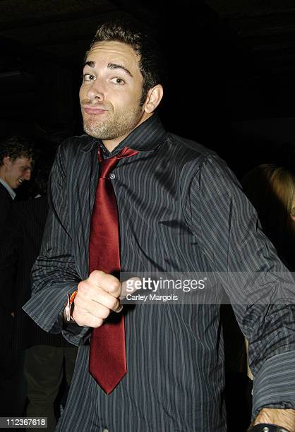 Zachary Levi of 'Less Than Perfect' during Celebrities in Town for UpFronts Attend Bunny Chow Tuesdays at Cain May 17 2005 at Cain in New York City...