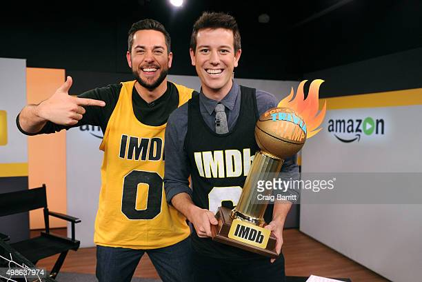 Zachary Levi on the set of his live IMDb interview with Ben Lyons on November 24 2015 in New York City