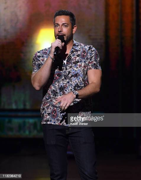Zachary Levi onstage at Nickelodeon's 2019 Kids' Choice Awards at Galen Center on March 23 2019 in Los Angeles California