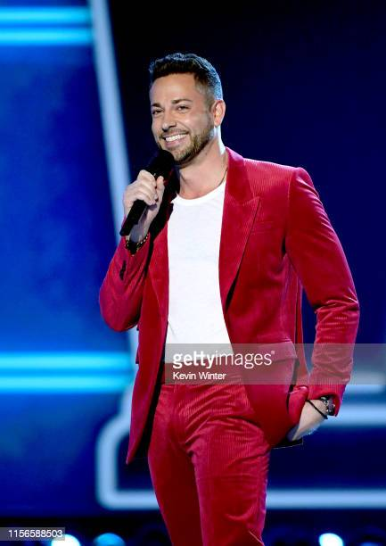 Zachary Levi onstage during the 2019 MTV Movie and TV Awards at Barker Hangar on June 15 2019 in Santa Monica California