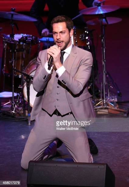 Zachary Levi performs at the 22nd annual Oscar Hammerstein Award gala at The Hudson Theatre on December 9 2013 in New York City