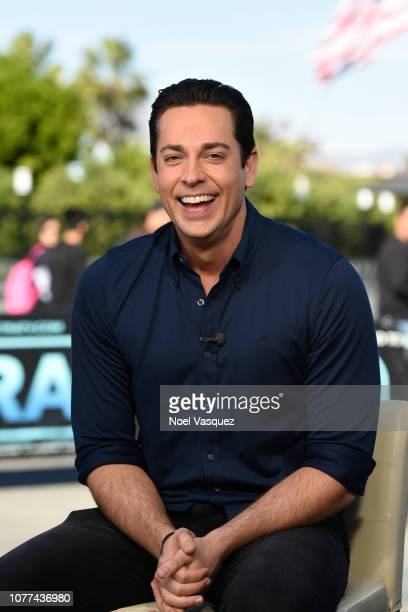 Zachary Levi visits Extra at Universal Studios Hollywood on December 04 2018 in Universal City California