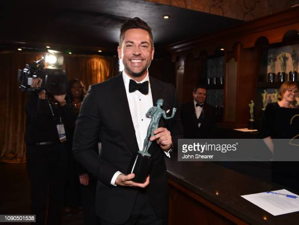 Zachary Levi winner of Outstanding Performance by an Ensemble in a Comedy Series for 'The Marvelous Mrs Maisel attends the 25th Annual Screen...