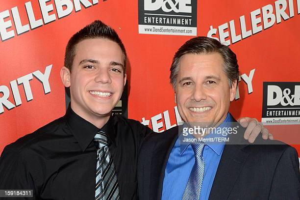 Zachary Mazur and director Kevin Mazur arrive at the premiere of '$ellebrity' at Mann's 6 Theatre on January 8 2013 in Hollywood California