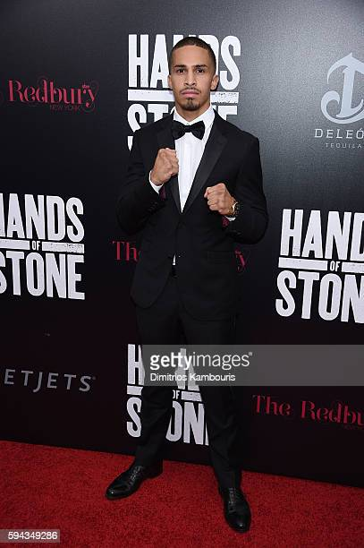 Zachary Ochoa attends the Hands Of Stone US premiere at SVA Theater on August 22 2016 in New York City