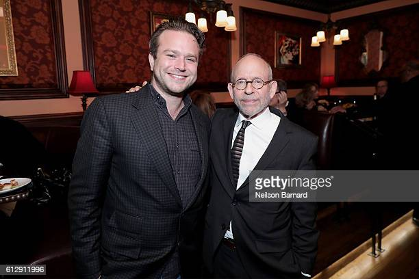 Zachary Pym Williams and Bob Balaban attend the after party for the Grand Opening of The SAG-AFTRA Foundation Robin Williams Center at 54 Below on...