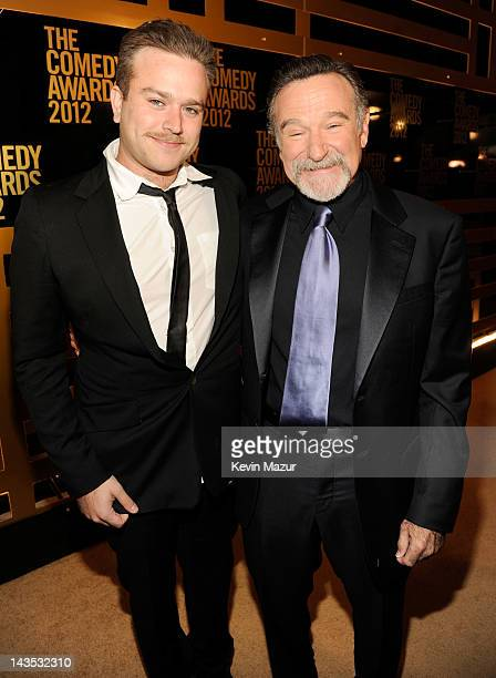 Zachary Pym Williams and Robin Williams attend The Comedy Awards 2012 at Hammerstein Ballroom on April 28 2012 in New York City