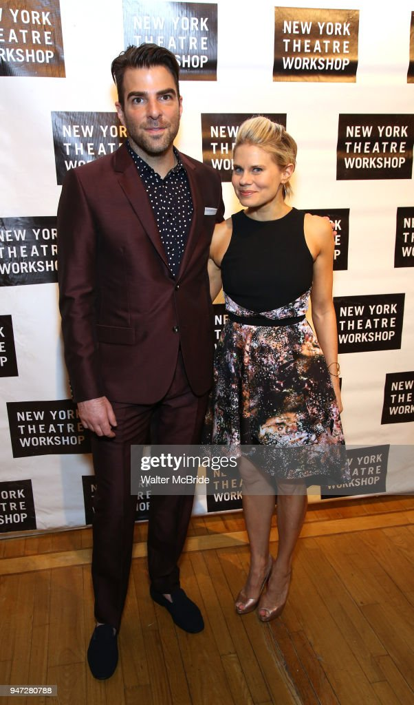Zachary Quinto and Celia Keenan-Bolger attend the 2018 New York Theatre Workshop Gala at the The Altman Building on April 16, 2018 in New York City.