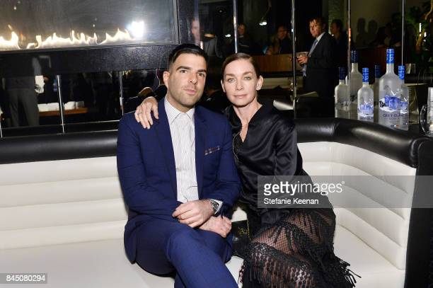 Zachary Quinto and Julianne Nicholson attend the Creative Coalition's 2017 Spotlight Initiative Gala Awards Dinner hosted by the Nordstrom Supper...