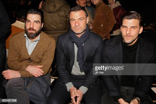 Zachary Quinto and Liev Schreiber attend the Todd Snyder fashion show during NYFW Men's at Skylight Clarkson North on February 1 2017 in New York City