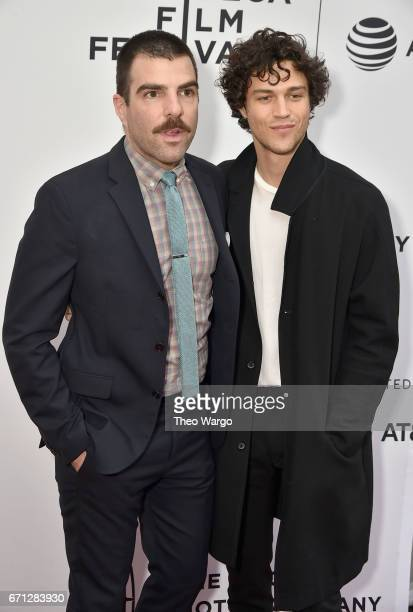 Zachary Quinto and Miles McMillan attend the 'Aardvark' Premiere during 2017 Tribeca Film Festival at SVA Theatre on April 21 2017 in New York City
