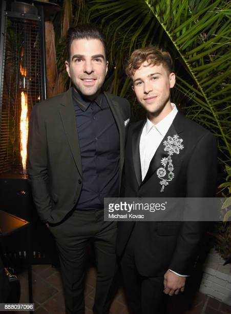 Zachary Quinto and Tommy Dorfman attend the 2017 GQ Men of the Year Party at Chateau Marmont on December 7 2017 in Los Angeles California