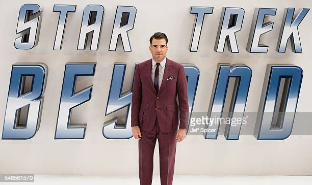 Zachary Quinto arrives for the UK premiere of Star Trek Beyond at Empire Leicester Square on July 12 2016 in London United Kingdom