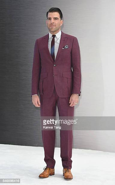 Zachary Quinto arrives for the UK premiere of 'Star Trek Beyond' on July 12 2016 in London United Kingdom