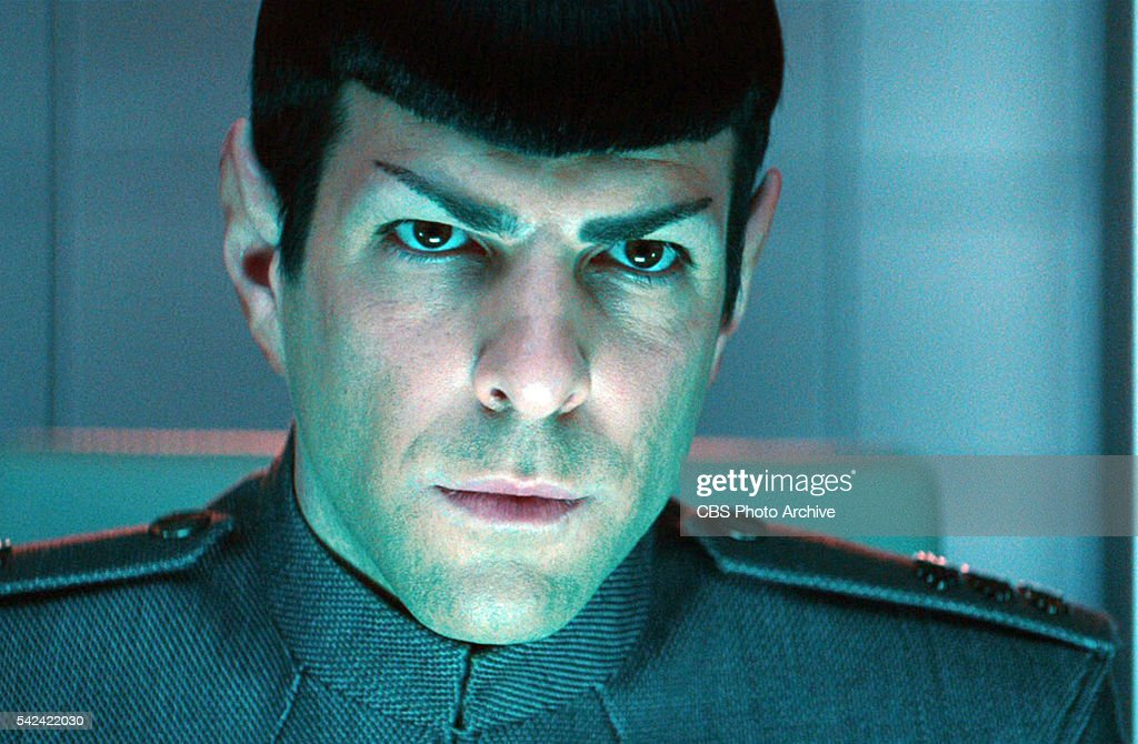 Zachary Quinto as Commander Spock in the 2013 movie,