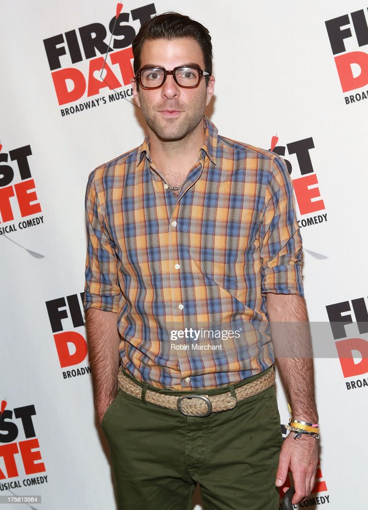Zachary Quinto attends 'First Date' Broadway Opening Night at Longacre Theatre on August 8, 2013 in New York City.