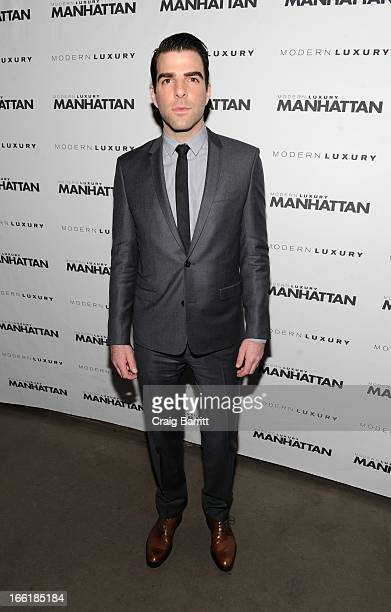 Zachary Quinto attends Manhattan Magazine Men's Issue party hosted By Zach Quinto on April 9 2013 in New York United States