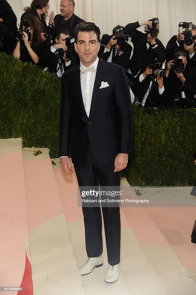 Zachary Quinto attends 'Manus x Machina: Fashion In An Age Of Technology' Costume Institute Gala at Metropolitan Museum of Art on May 2, 2016 in New York City.