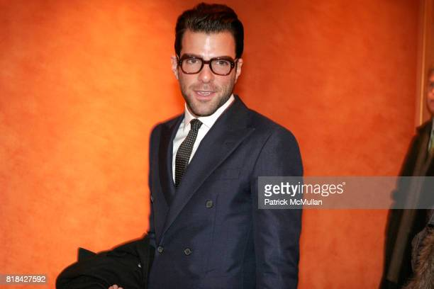 Zachary Quinto attends Opening Night of Present Laughter at American Airlines Theater on January 21 2010 in New York City