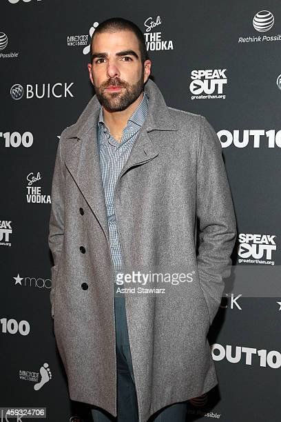 Zachary Quinto attends Out100 2014 presented by Buick on November 20 2014 in New York City