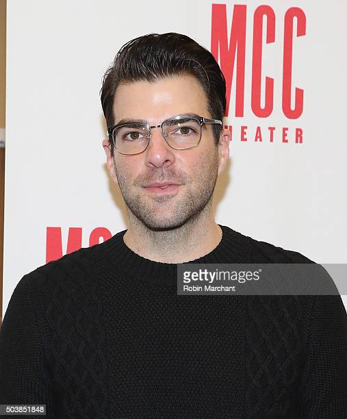 Zachary Quinto attends Smokefall Press Preview at MTC Rehearsal Studios on January 7 2016 in New York City