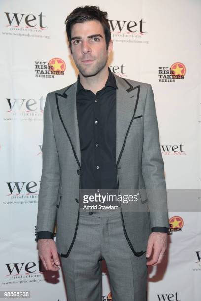 Zachary Quinto attends Stars Give Love - A Very Special Benefit For WET's 11th Season at The Angel Orensanz Foundation on April 19, 2010 in New York...