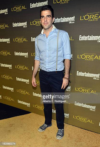 Zachary Quinto attends The 2012 Entertainment Weekly PreEmmy Party Presented By L'Oreal Paris at Fig Olive Melrose Place on September 21 2012 in West...