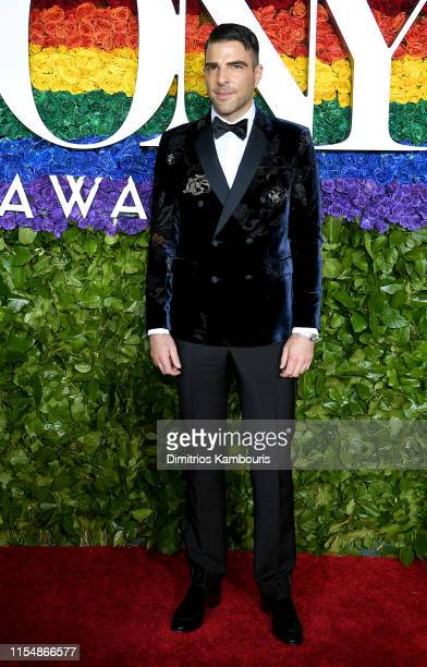 Zachary Quinto attends the 73rd Annual Tony Awards at Radio City Music Hall on June 09 2019 in New York City