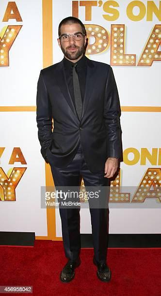 Zachary Quinto attends the Broadway Opening Night Performance of 'It's Only A Play' at the Gerald Schoenfeld Theatre on October 9 2014 in New York...