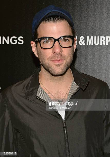 Zachary Quinto attends The Cinema Society and Johnston Murphy screening of Sony Pictures Classics' Kill Your Darlings at Paris Theater on September...