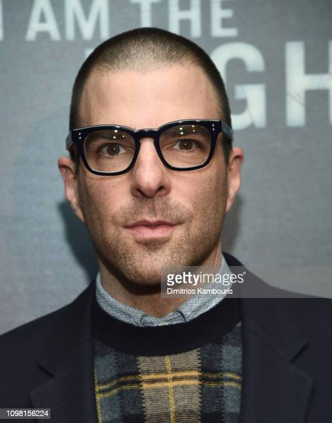 Zachary Quinto attends the I Am The Night New York Premiere at Metrograph on January 22 2019 in New York City