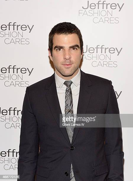 Zachary Quinto attends the Jeffrey Fashion Cares 2015 at ArtBeam on April 6 2015 in New York City