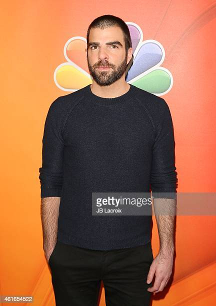 Zachary Quinto attends the NBCUniversal 2015 Press Tour at the Langham Huntington Hotel on January 16 2015 in Pasadena California
