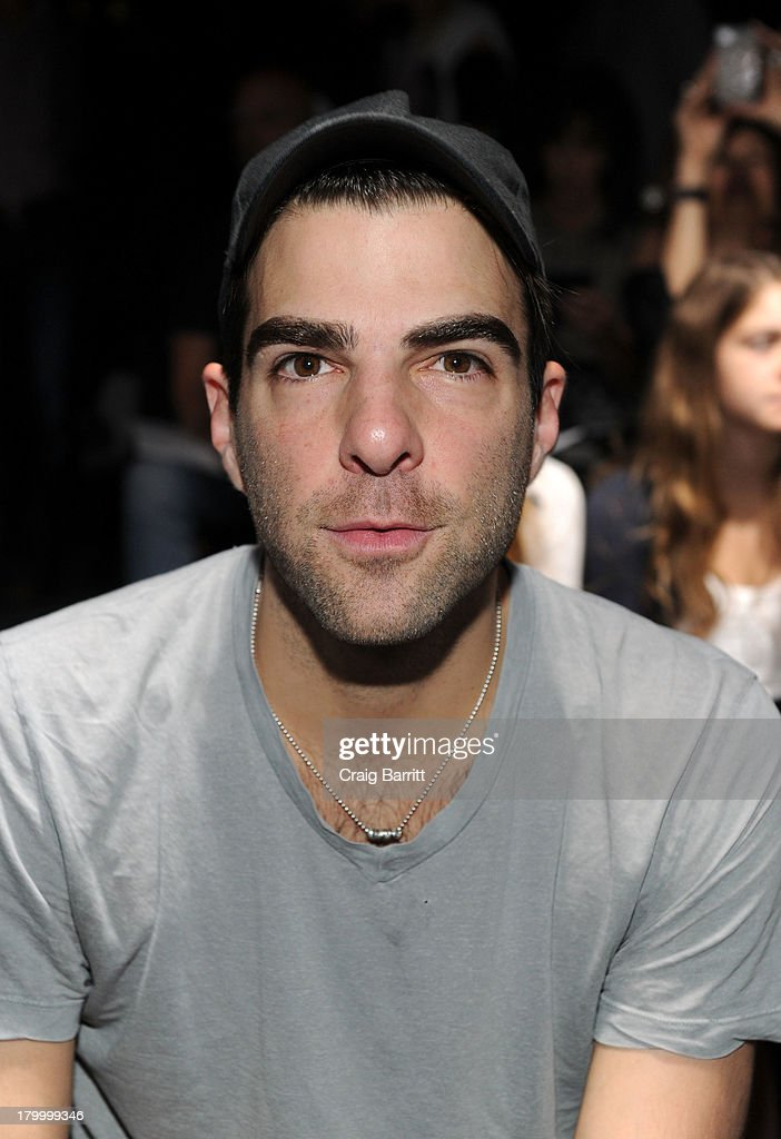Zachary Quinto attends the Prabal Gurung fashion show during Mercedes-Benz Fashion Week Spring 2014 at Skylight at Moynihan Station on September 7, 2013 in New York City.