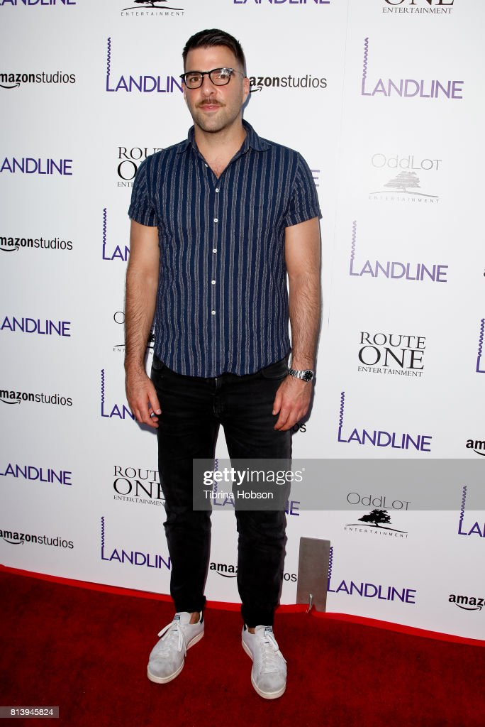Zachary Quinto attends the premiere of Amazon Studios 'Landline' at ArcLight Hollywood on July 12, 2017 in Hollywood, California.