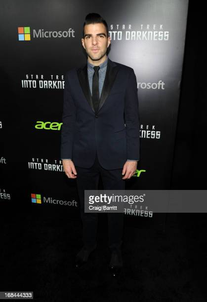 Zachary Quinto attends the Star Trek Into Darkness New York Special Screening at AMC Loews Lincoln Square on May 9 2013 in New York City
