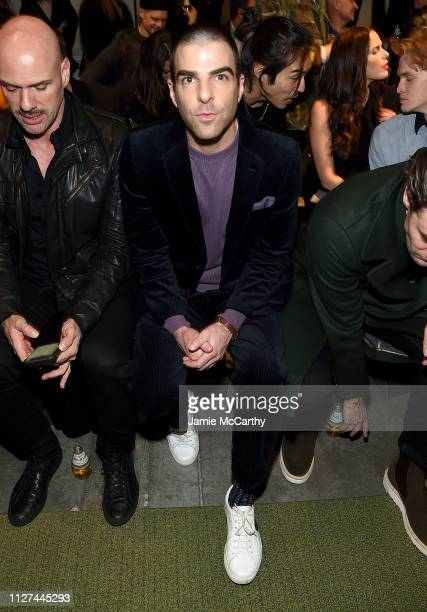 Zachary Quinto attends the Todd Snyder Fashion Show during New York Fashion Week Men's at Pier 59 Studios on February 04 2019 in New York City