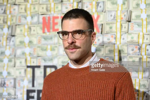 Zachary Quinto attends the Triple Frontier World Premiere at Jazz at Lincoln Center on March 03 2019 in New York City