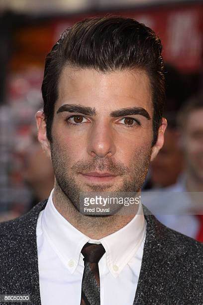 Zachary Quinto attends the UK premiere of 'Star Trek' at the Empire Leicester Square on April 20 2009 in London England