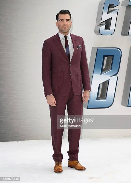 """Zachary Quinto attends the UK Premiere of """"Star Trek Beyond"""" at Empire Leicester Square on July 12, 2016 in London, England."""